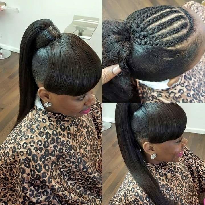 So cute Natural hair styles Weave ponytail hairstyles