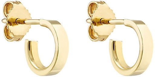 Finn Womens Yellow Gold Huggie Hoop Earring w0vJGI
