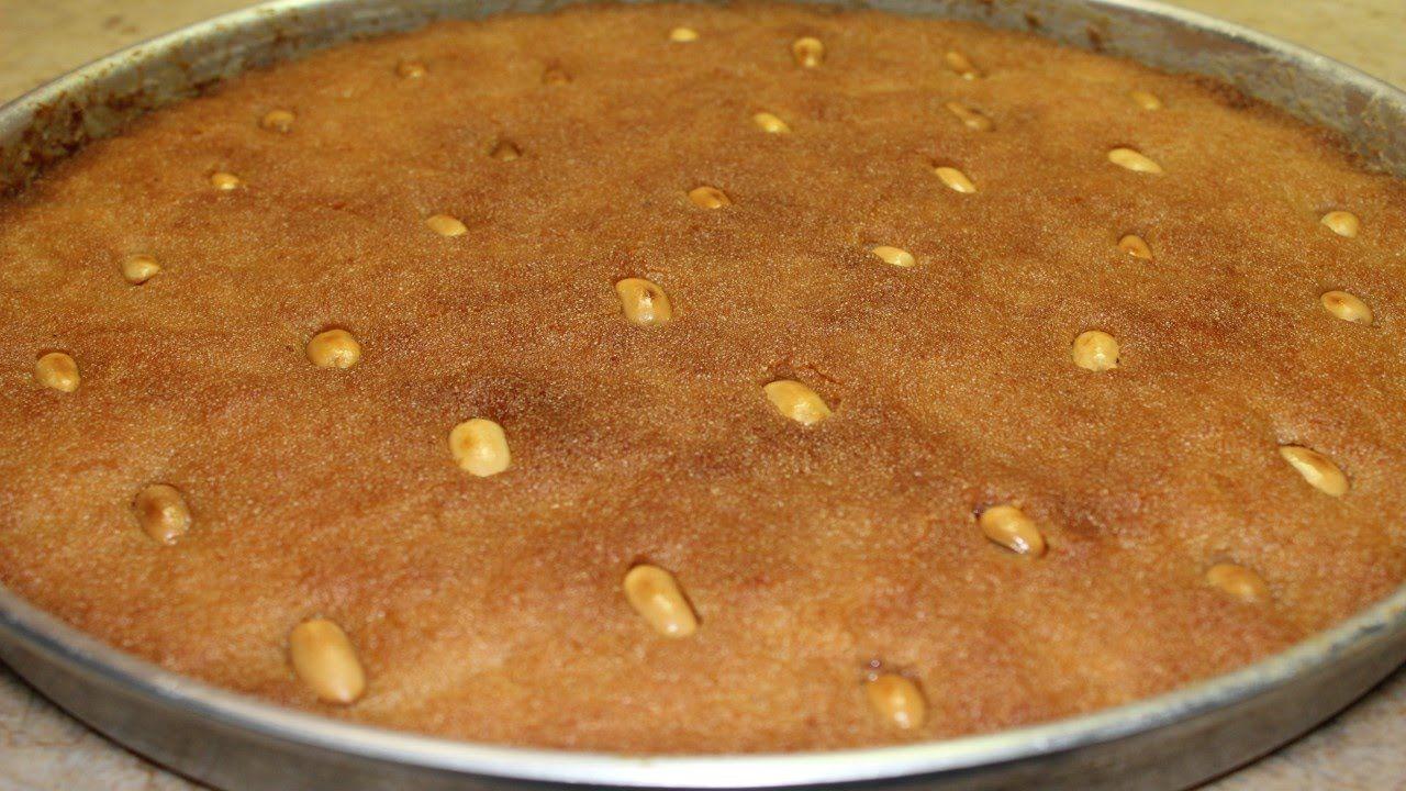 سر عمل البسبوسة الطرية و المتماسكة في البيت مثل البسبوسة الجاهزة عند الحلواني وصفة مضمونة 100 Food Lebanese Desserts Palestinian Food