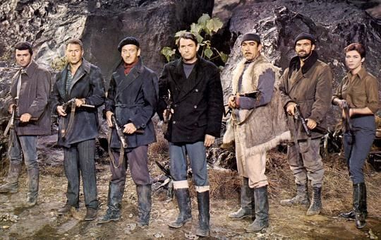 Cast Of The Guns Of Navarone 1961 Left To Right James Darren Anthony Quayle David Niven Gregory Peck Anthony Quinn Stanley Baker And