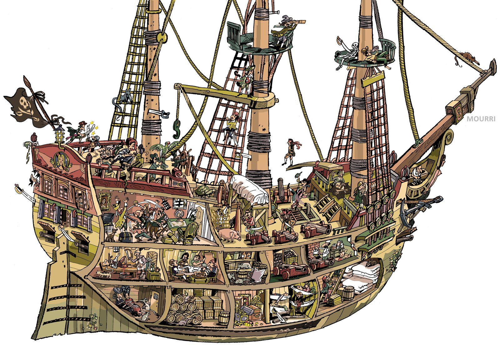 Old Pirate Ship by ~mourri | Best Fighting Sail | Pinterest ...