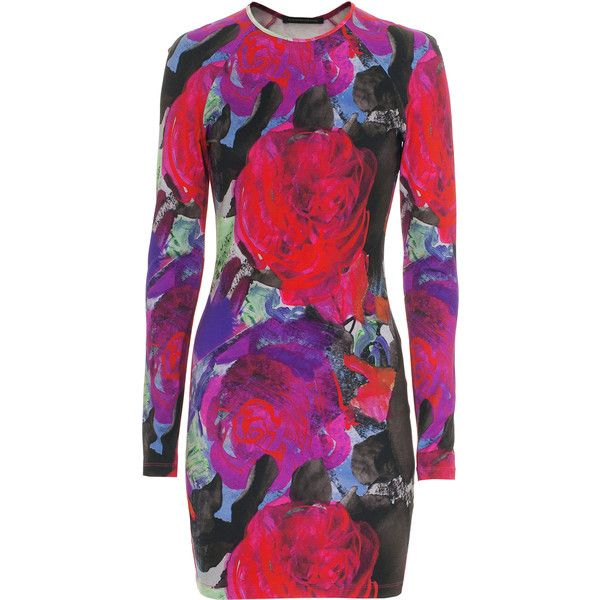Farb-und Stilberatung mit www.farben-reich.com -CHRISTOPHER KANE Abstract Floral Pink Stretch-jersey mini dress