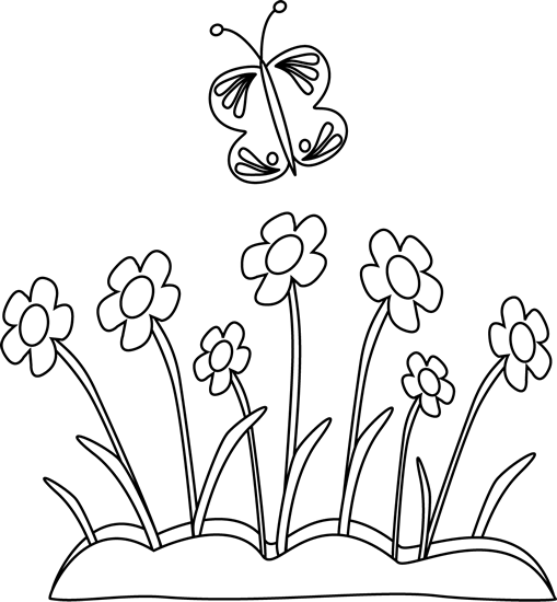 "bed of flowers with butterfly"" http://content.mycutegraphics"