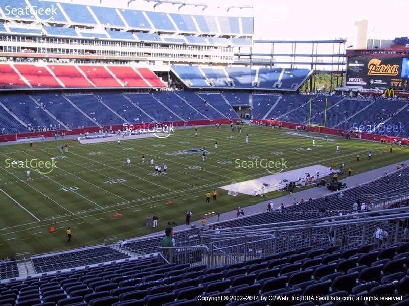 Patriots Ticket Package December 31 100 2 Lower Bowl