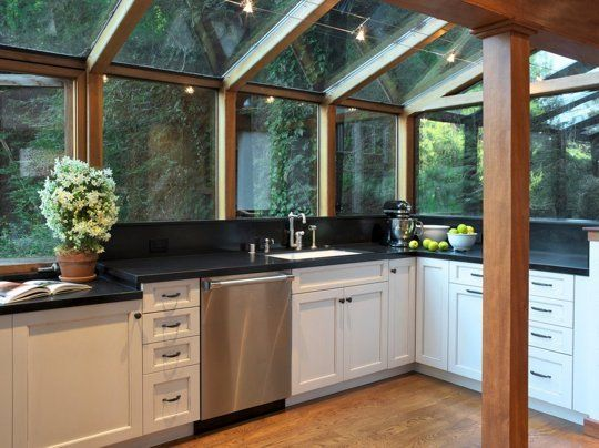 6 Sun-Filled Kitchens with Greenhouse Windows