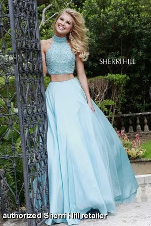 Sherri Hill - 32058 crop tops are hot for prom! Get this stunning 2 ...