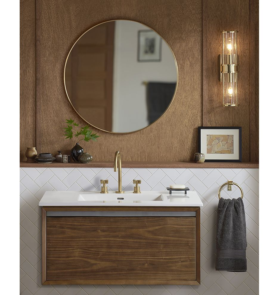yeon double sconce single vanities white ceramics and wall mount yeon double sconce wood bathroombathroom ideasbathroom lightingman cave