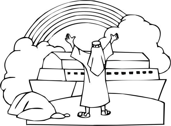 Noah Rainbow Coloring Page Google Search Bible Coloring Pages