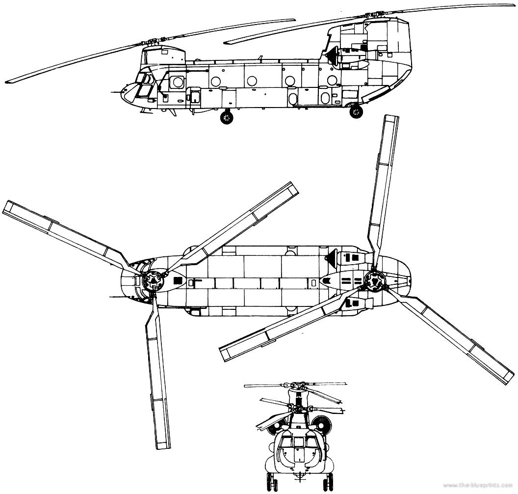 chinook 3 view schematic