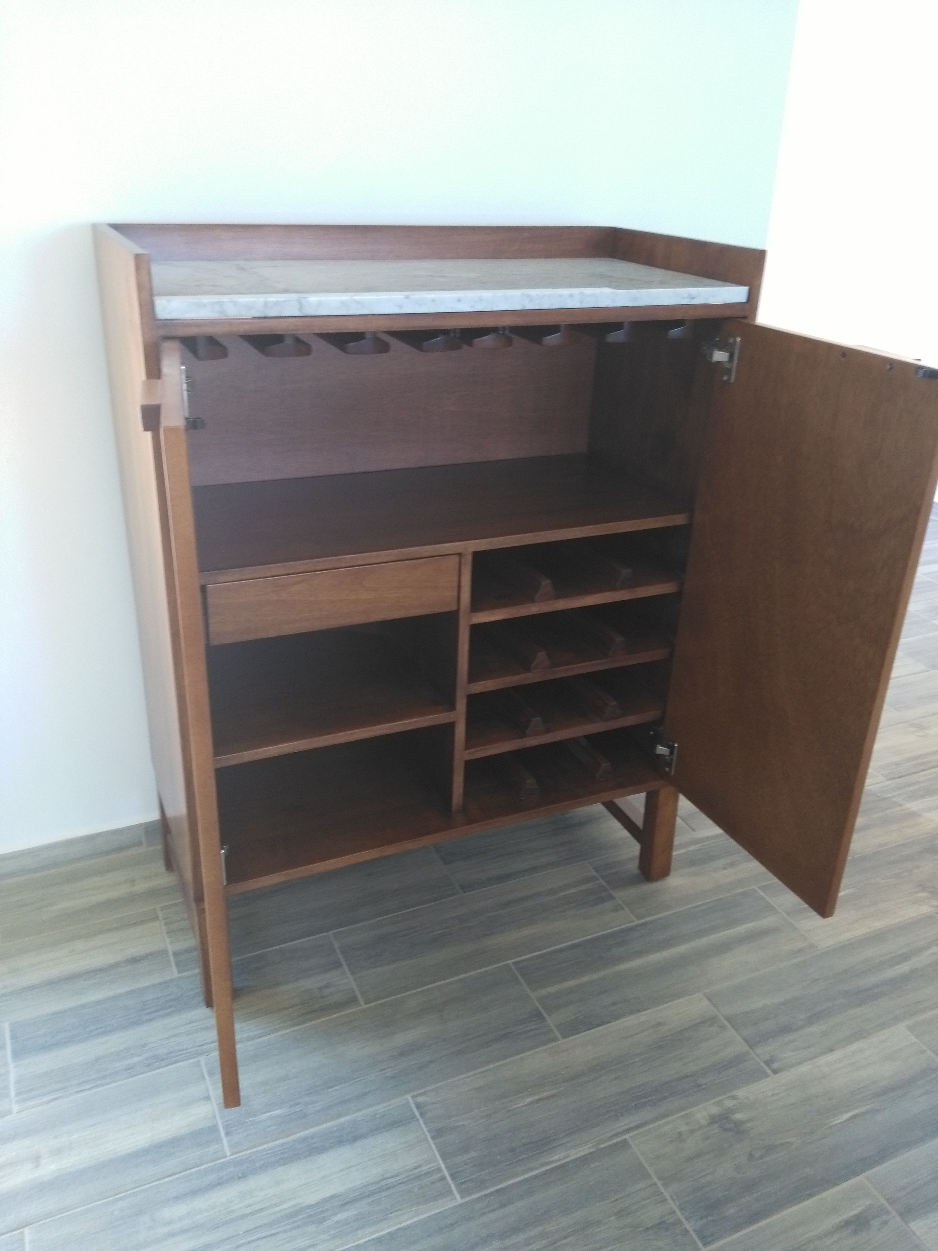 This beautiful wood bar cabinet made for our clients in rancho villa real costa rica guanacaste tamarindo