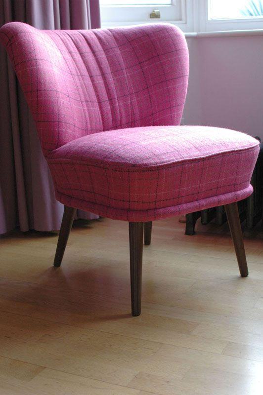 Genial Cocktail Chairs: Designers Guild Hugga In Fuschia Tweed