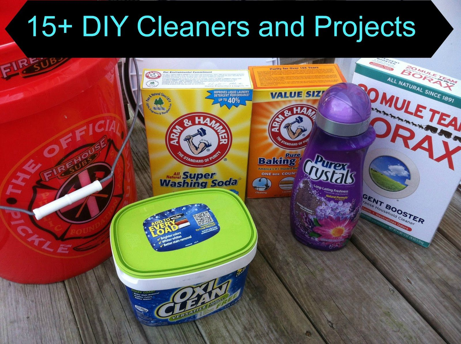 All of the DIY cleaners, laundry detergent, carpet powder all in one place!