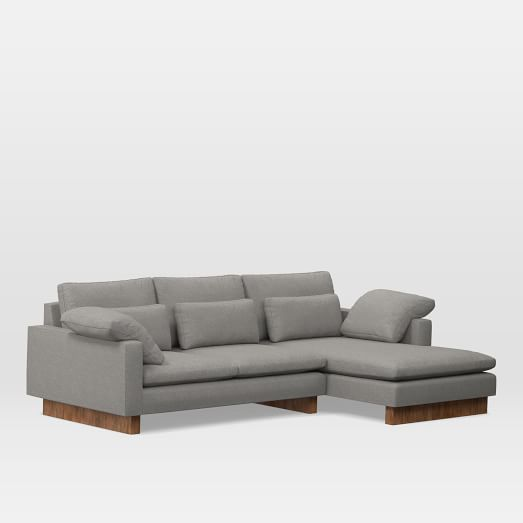 Harmony 2 Piece Chaise Sectional Deep Sectional 5