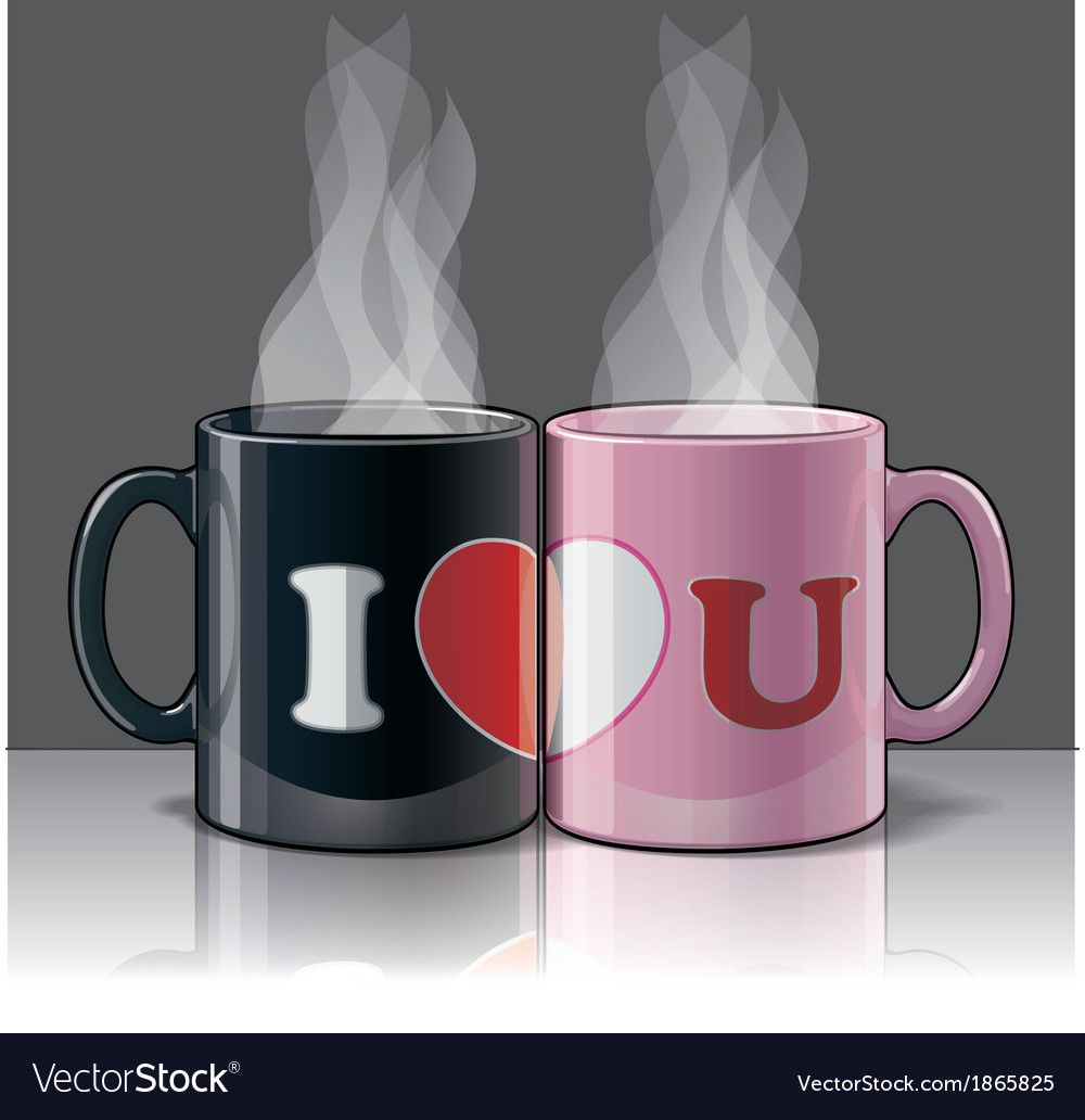 I Love You With My Pink Black Coffee Mugs A Symbolic Statement Of A Couple That Enjoy Sharing Life Together Download My Love I Love You Images Love You Images