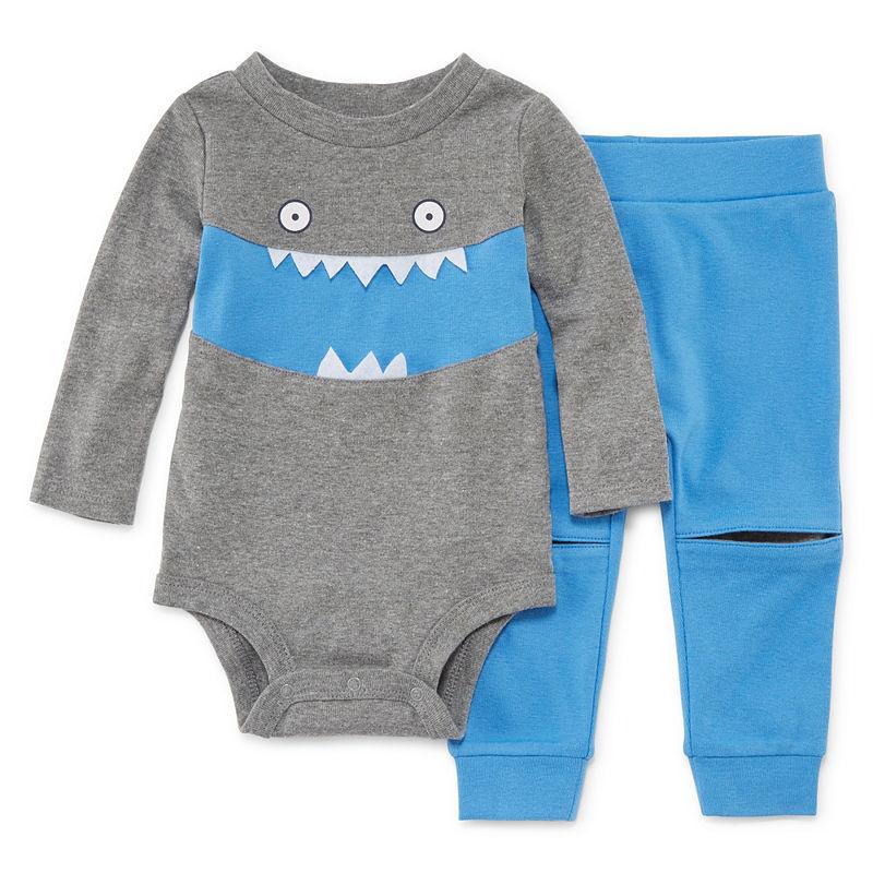531e09918 Okie Dokie Monster Long Sleeve Bodysuit and Pant Set - Baby Boy NB-24M