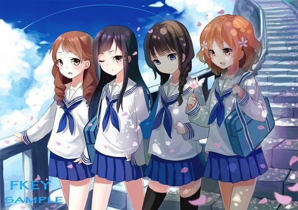 Matsumae Ohana, Oshimizu Nako, Tsurugi Minko, Wakura Yuina / Hanasaku Iroha