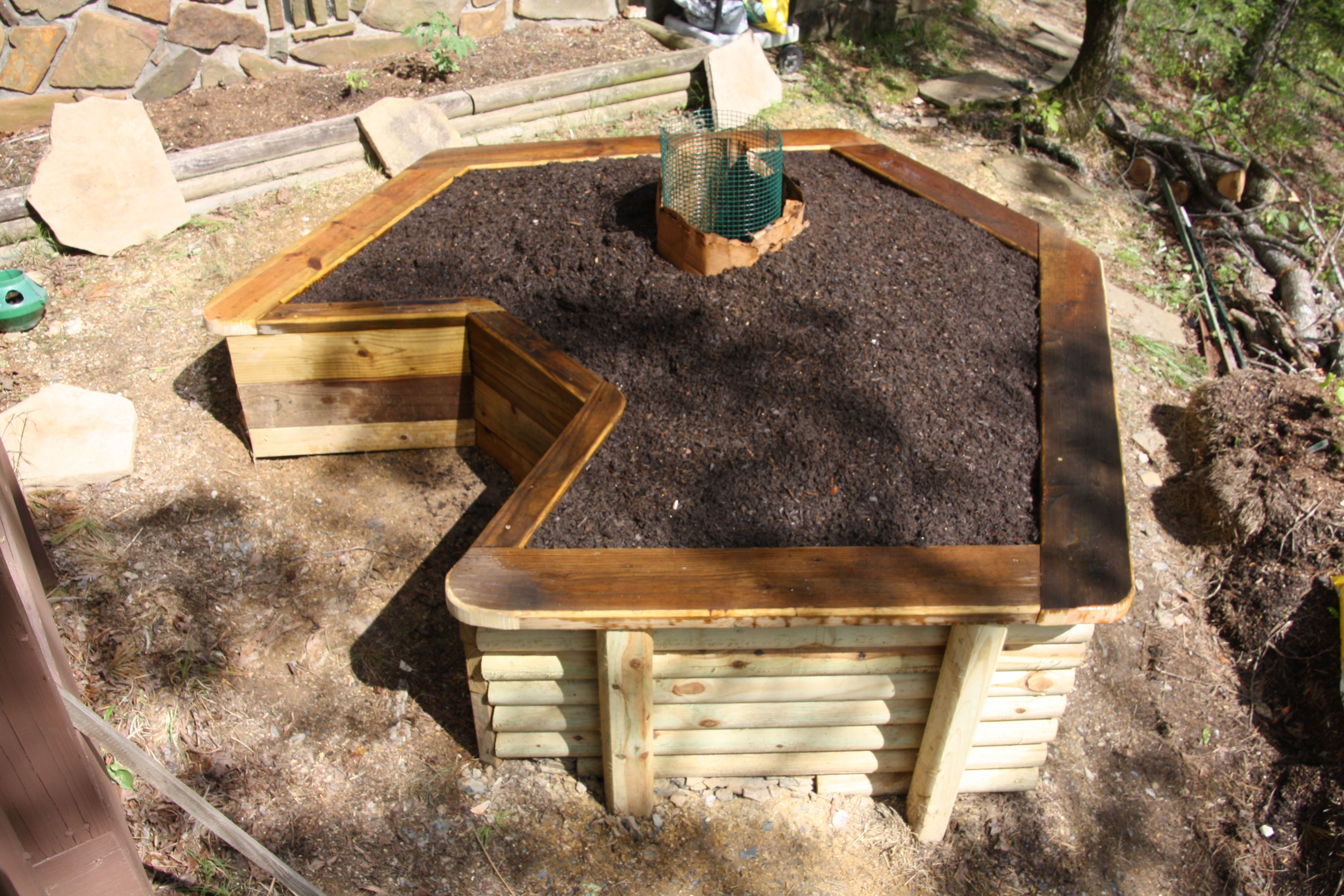 I just finished building my first keyhole garden. Now, to start ...