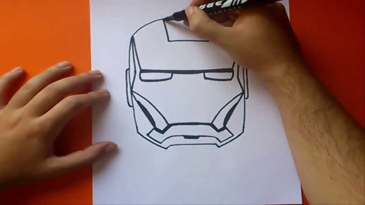 Como Dibujar A Iron Man Paso A Paso How To Draw Iron Man Dibujo Paso A Paso Casco De Iron Man Paso A Paso