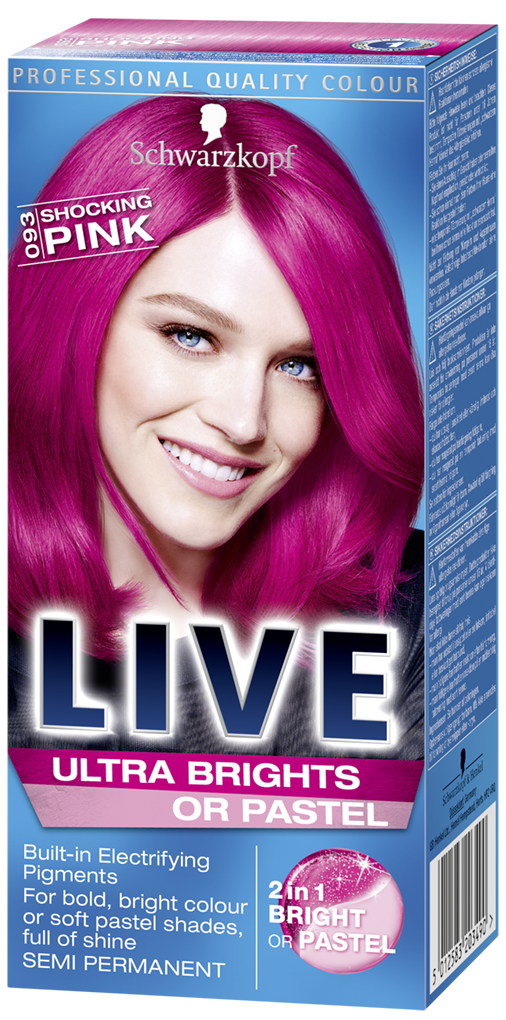Live Ultra Brights Or Pastel Shocking Pink Pink Hair Dye Hair