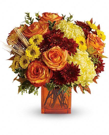 Teleflora S Autumn Expression Fall Flower Arrangements Thanksgiving Floral Arrangements Fall Floral Arrangements