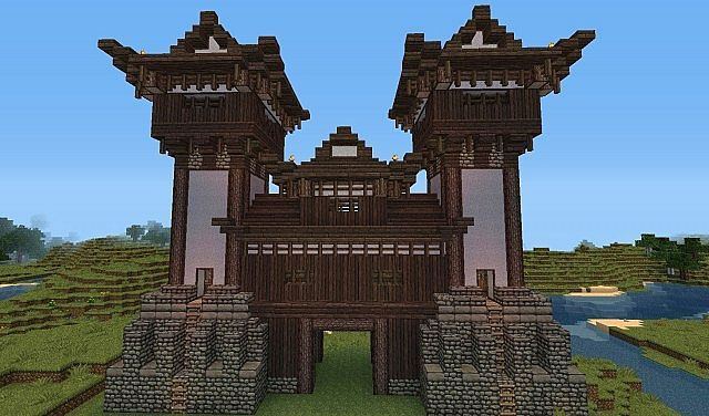 japanese style castle gate minecraft project - Minecraft Japanese Gate