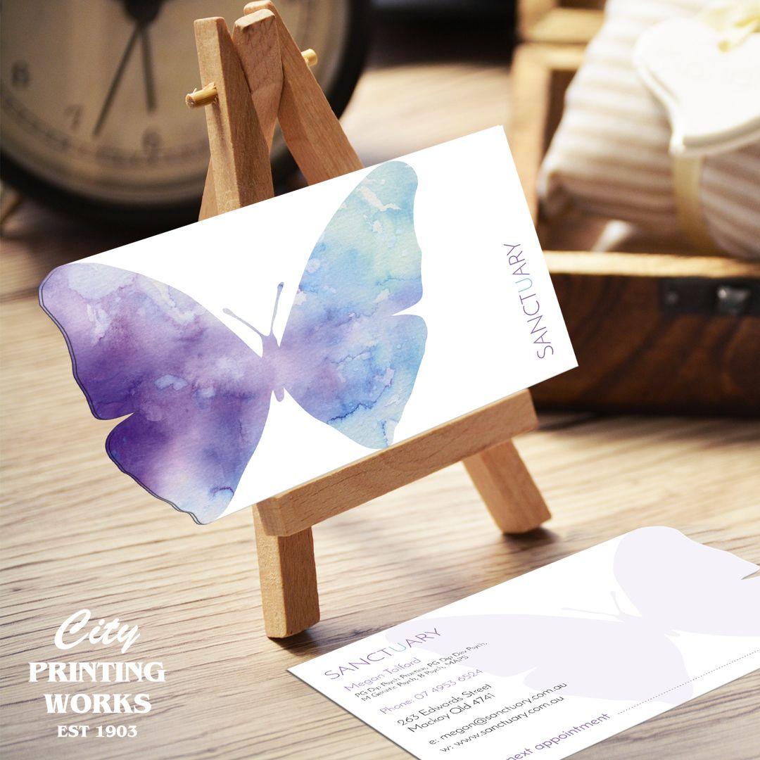 Custom Diecut Business Cards - Butterfly Diecut | love what ya doula ...