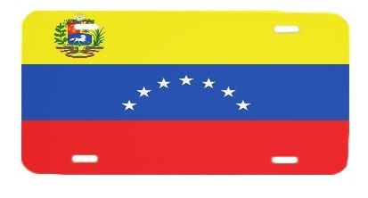Venezuela Flag License Plate Metal Wall Sign for Auto by BlingSity, $14.95