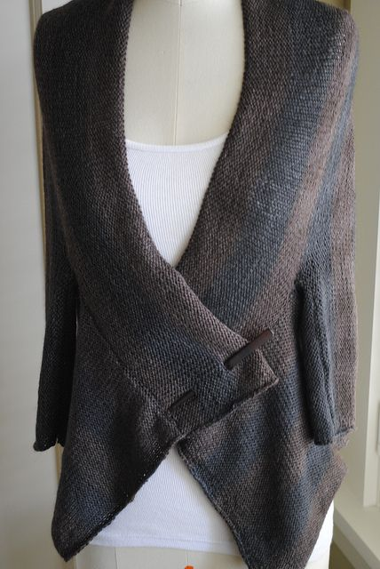 Stripe Wrap Cardigan by Monica Welle Brown - free