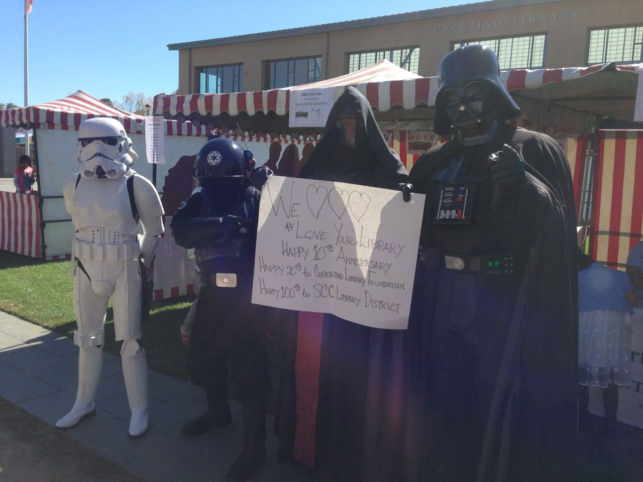 Even the Star Wars bad guys love the library! Bad guy