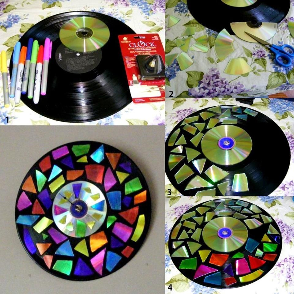 DIY Vinyl CD Clock DIY Vinyl CD Clock | relojes | Pinterest
