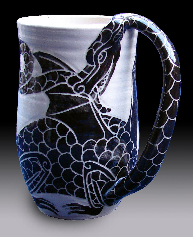 Dragon Mug by rhoneypots on Etsy | DRAGONS!!! | Dragon ... - photo#6