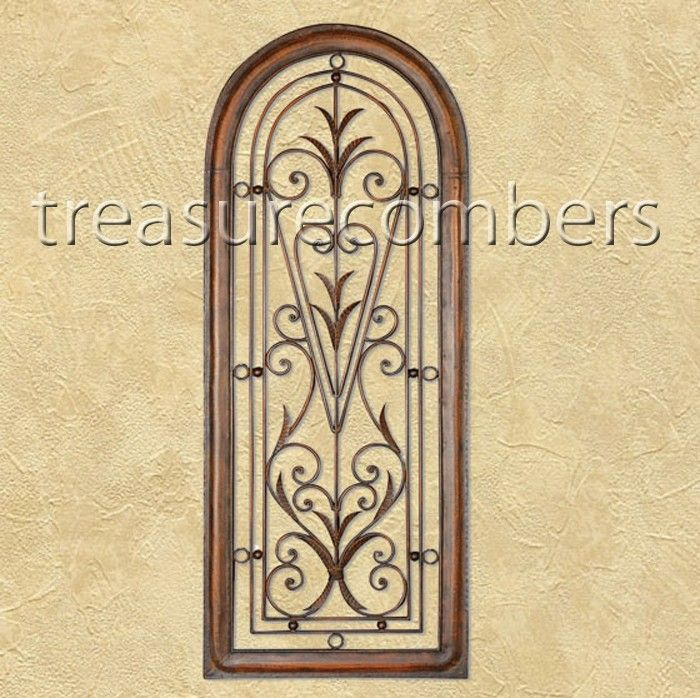 Gisella Wrought Iron Tuscan Arch Wall Grille - treasurecombers ...