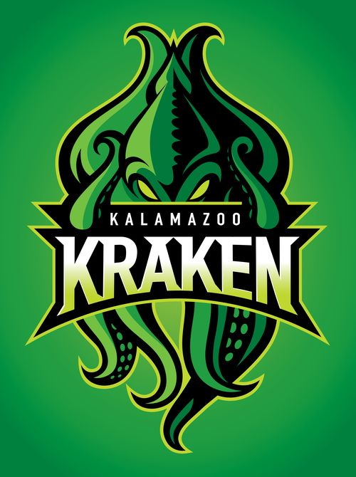 Kalamazoo Kraken 02 Jpg Sports Logo Design Graphic Design Logo Logos