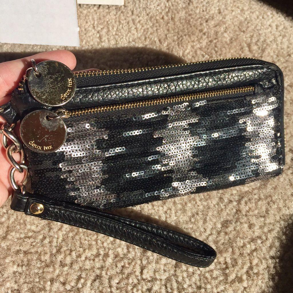 Deux Lux Sequin Wallet Wristlet