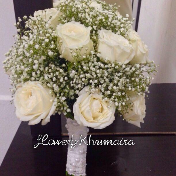 Hand Bouquet Fresh Flower White Rose Baby Breath Whatsapp 0193078622 Cod Area Kl Selangor Setapak Kl Tmn Melati Hand Bouquet Fresh Flowers White Roses