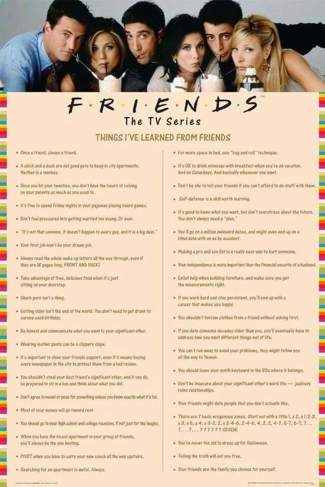 Things I\'ve learned from F.R.I.E.N.D.S   Friends   Pinterest ...