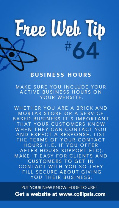 Make Your Business Hours Known To The Public  It Sets
