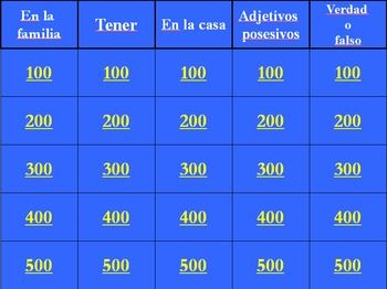 Spanish As Se Dice Level  Chapter  Review Jeopardy Powerpoint