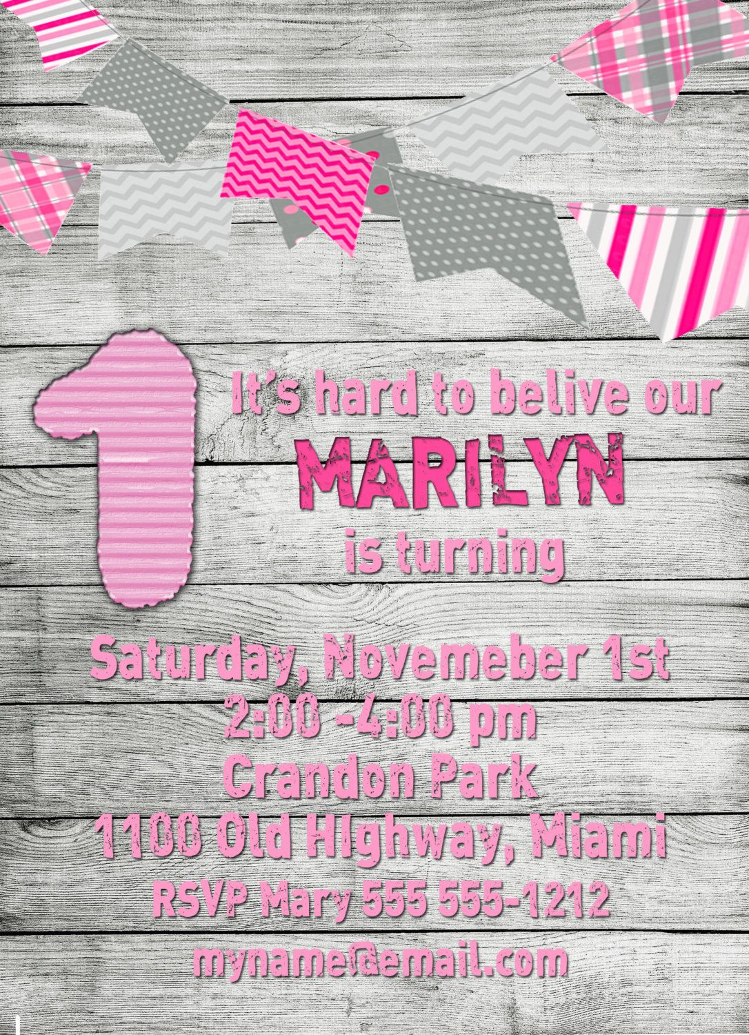 Birthday invitationbirthday card barnyard pink x all bout