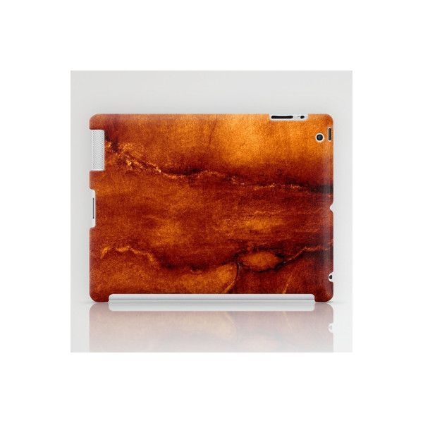 brown wall iPad Case by agnes Trachet | Society6 via Polyvore
