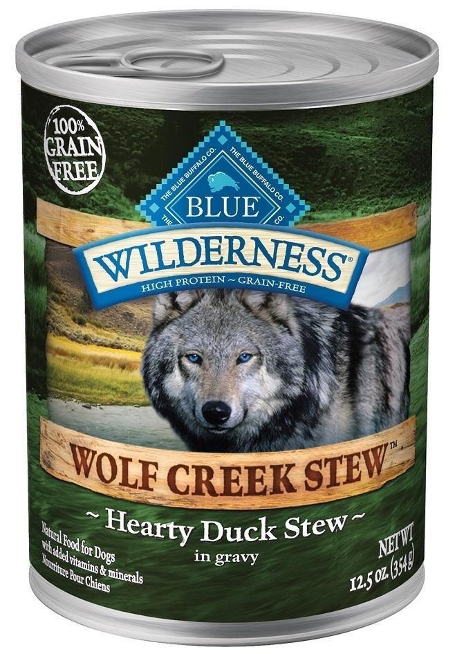 Blue Buffalo Wilderness Wolf Creek Stew Hearty Duck Stew Canned