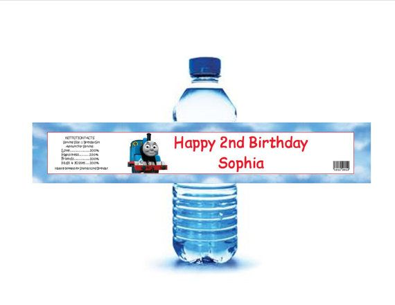 Thomas The Train Water Bottle Labels Diy By Raymis On Etsy 5 00
