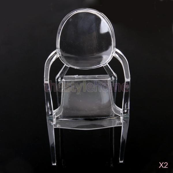 2X Transparent Furniture Armchair Dining Chair for Barbie Dolls 1 6 Scale | eBay