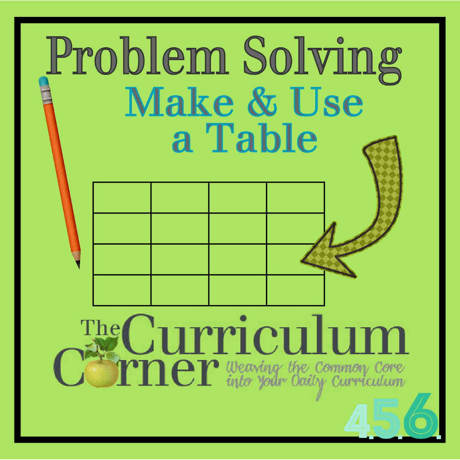 Problem Solving Strategy Make And Use A Table Problem Solving Strategies Problem Solving Math Problem Solving Strategies