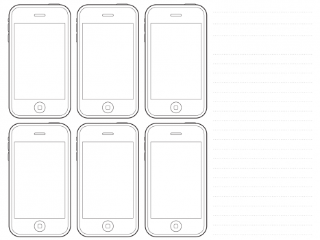 iphone printable template - Google Search | computer rm | Pinterest ...