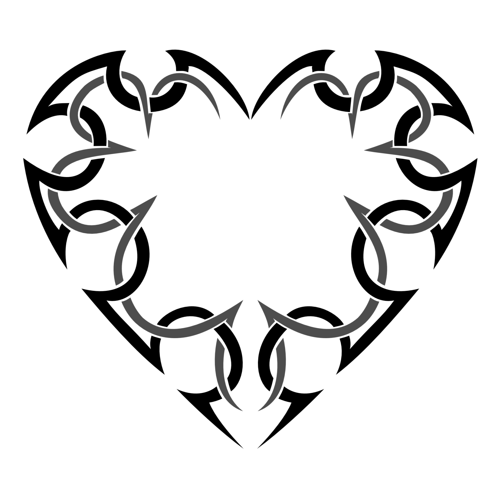 Heart tattoos designs - Tribal Heart Tattoos Designs And Ideas Clipart Best