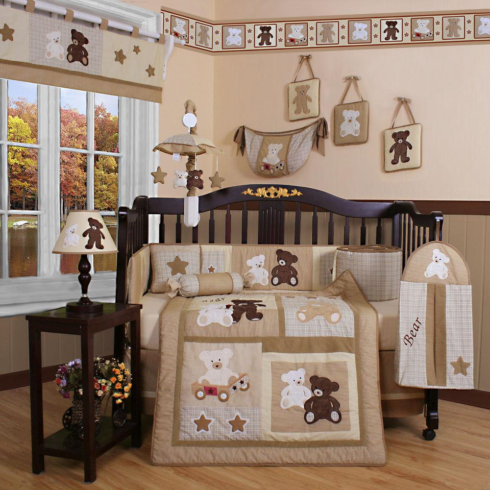 Baby Bedding 13 Piece Crib Sets With Per Included Bundle Teddy Bears