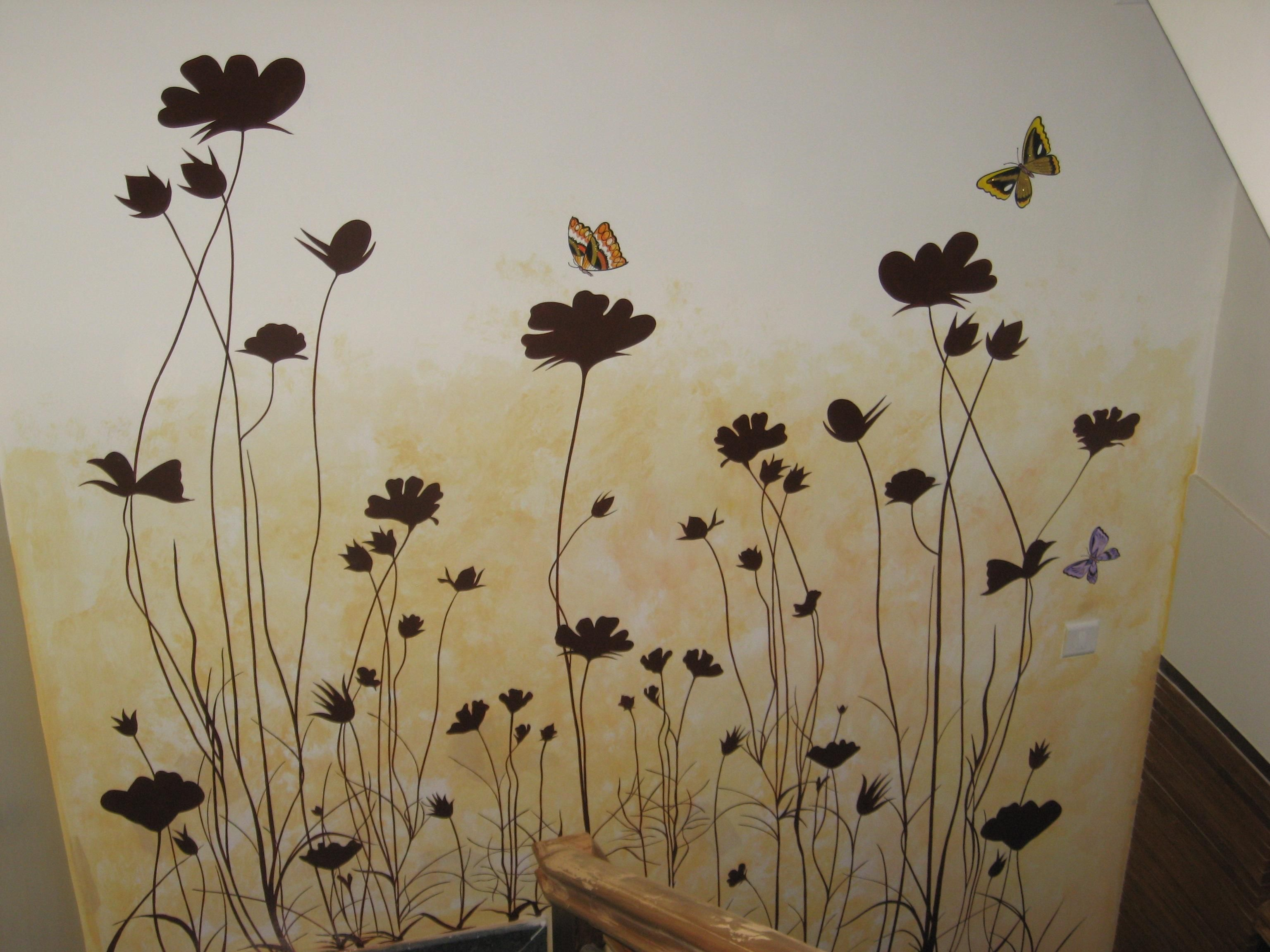 painting design on wall photo - Design Of Wall Painting
