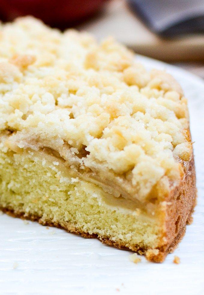 Irish Apple Crumb Cake With Honey Whipped Cream Easy Dessert