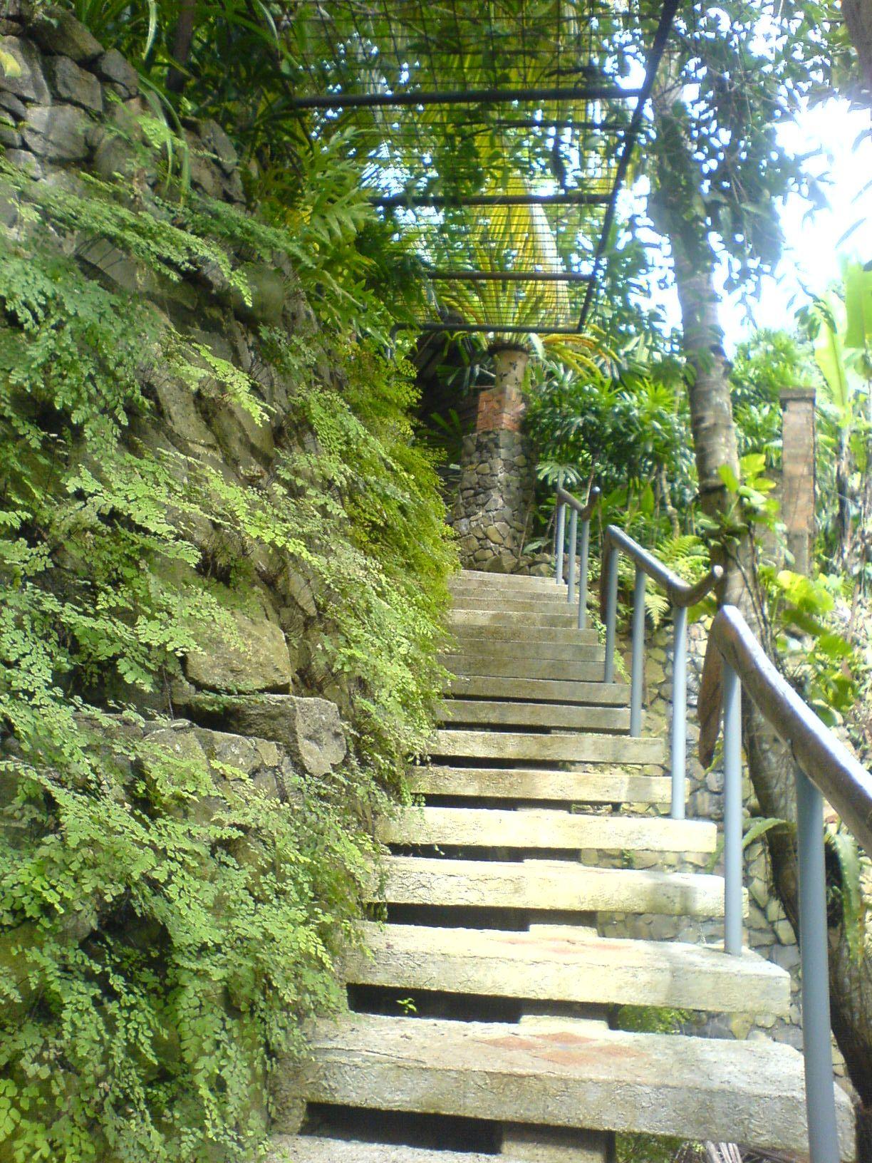 Outside stairs. Photo's taken at Rumah Keramik, Depok